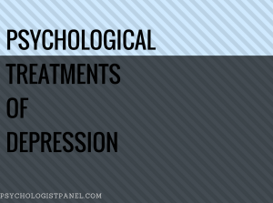 Psychological treatments of Depression A Common Cold of Psychiatry