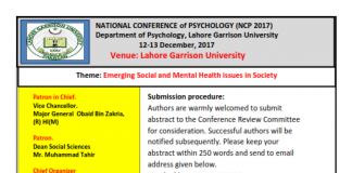 National Conference of Psychology (NCP 2017)