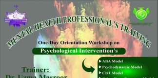 One-Day Orientation Workshop on Psychological Intervention's