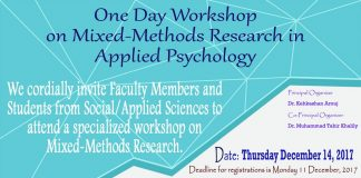 One Day Workshop on Mixed-Methods Research in Applied Psychology