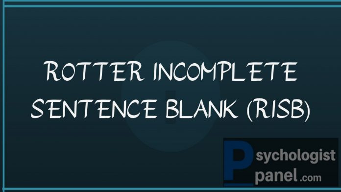 ROTTER INCOMPLETE SENTENCE BLANK RISB
