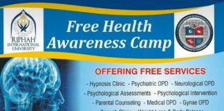 Free Health Awareness Camp at Riphah International University