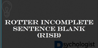 ROTTER INCOMPLETE SENTENCE BLANK (RISB)