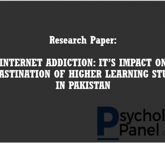 INTERNET ADDICTION ITS IMPACT ON PROCRASTINATION