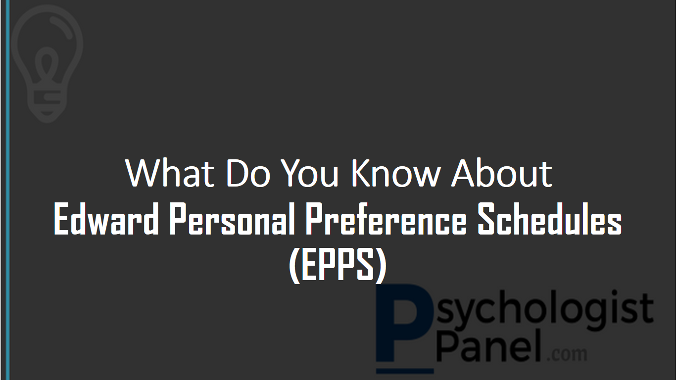 edward personal preference schedules epps