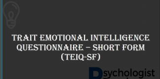 Trait Emotional Intelligence Questionnaire – Short Form