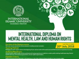 International Diploma on Mental Health Law And Human Rights Admissions Open
