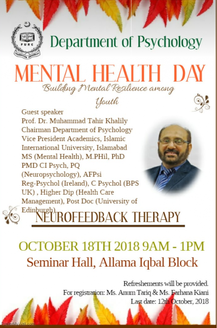 ONE DAY WORKSHOP ON NEUROFEEDBACK THERAPY