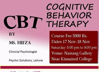 Workshop on Cognitive Behavior Therapy (CBT)