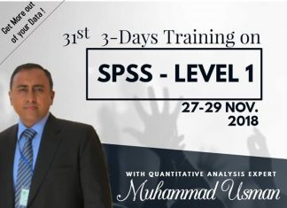Three Days Training on SPSS Level-1