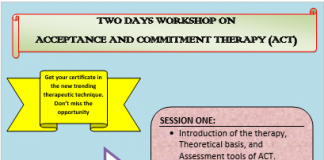 Two Days Workshop on Acceptance and Commitment Therapy