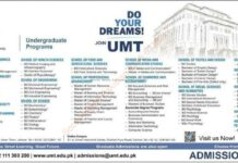 Admissions Open at University of Management and Technology